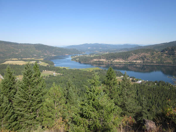 The Pend Oreille River flows through the Priest River metamorphic core complex.